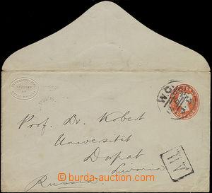47902 - 1895 postal stationery cover Mi.U13A, to Russia, CDS W.C./ 1
