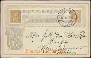 47903 - 1910 dopisnice Mi.P42, DR Reykjavik/ 24.V.10, zasláno do Pra