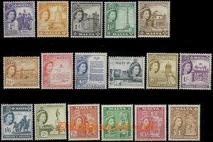 47946 - 1956 Mi.237-253 Alžběta II., kompl. série, svěží, kat.