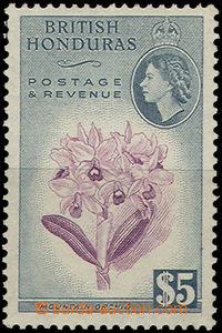 47955 - 1953 BRITISH HONDURAS Mi.152 flower + Elizabeth II., ending