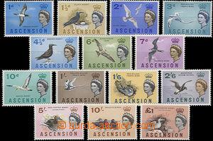 47962 - 1963 Mi.75-88, Ptáci + Alžběta II., kompl. série 14ks, 1