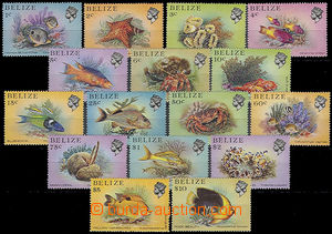 47971 - 1984 BELIZE Mi.729-744 Sea fauna, complete set of 16 pieces,