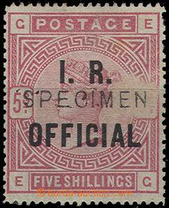 47978 - 1885 Mi.D45 služební známka 5Sh s přetiskem I.R. OFFICIA