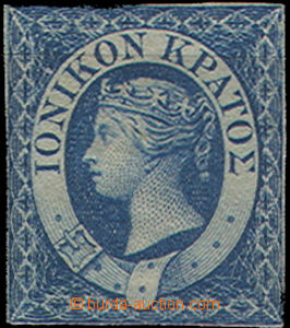 47981 - 1859 Mi.2 Victoria, 1P blue, tracks of labels, little recogn