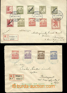 48013 - 1918-20 R letters 2 pcs of, posted in Budapest, multicolor f