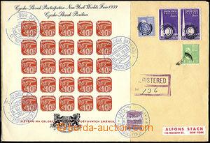 48020 - 1939 R dopis většího formátu vyfr. novinovým aršíkem