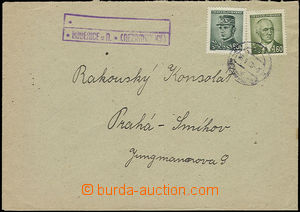 48028 - 1946 letter with postal agency pmk KOBEŘICE by/on/at Nezamy