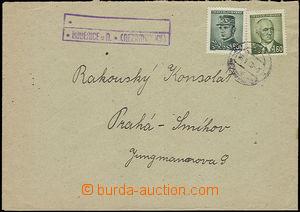 48028 - 1946 dopis s razítkem poštovny KOBEŘICE u Nezamyslic (Geb