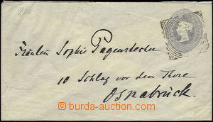 48046 - 1892 postal stationery cover Mi.U12A to Germany, CDS London/