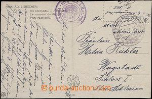 48067 - 1916 postcard with violet 2kruhovým postmark K.u.K.. Marine