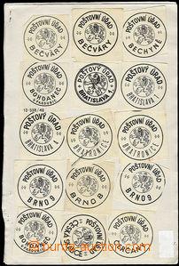 48103 - 1960-80 ČSR II.  sestava 135ks úředních nálepek různý