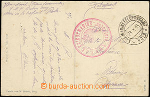 48139 - 1915 S.M.S.BABENBERG, red circular pmk with eagle + CDS Fiel