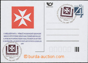48147 - 1997 CDV22/PM6, Knights of Malta, with special postmark Post