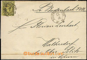 48149 - 1861 folded letter with Mi.11, numeral + CDS Leipzig/ 13.III