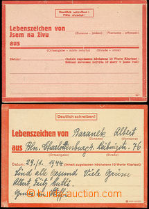 48153 - 1944 stationery Express Card No.1, 1x German, filled and to