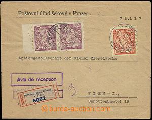 48163 - 1924 R dopis zaslaný do Vídně, vyfr. zn. Pof.173 s DR Po�