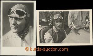 48166 - 1935? photo postcard car racers Chirona and Nuvolariho, 1x p