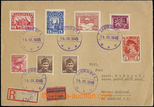 48177 - 1945 philatelically influenced Reg and Express letter, with