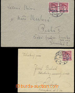 48185 - 1939 comp. 2 pcs of letters to Bohemia-Moravia, 1x franked w