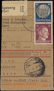 48244 - 1941 smaller part of dispatch-note with commercial přítisk