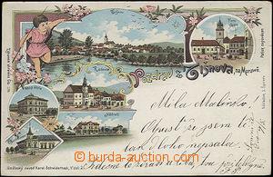 48258 - 1899 Tišnov, barevná kolážová litografie, vícezáběro