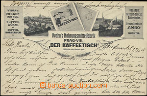 48288 - 1905 advertising collage  B/W postcard Vydrovy factory on/fo
