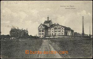 48329 - 1914 Holice na Hané, čb pohled na Hanácký pivovar, adres