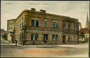 48331 - 1915? Opava, color view of Foundation house with pub and res