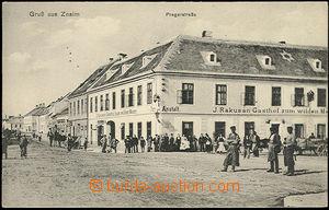 48332 - 1915? Znojmo, čb pohled na hostinec Gasthof zum wilden Mann