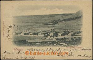48406 - 1897 Mostar,  B/W view of cabins jižního camp, sent to Morav