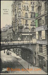 48421 - 1914 Wien I. Tiefer Graben (vysoký mostní nadjezd, obchody