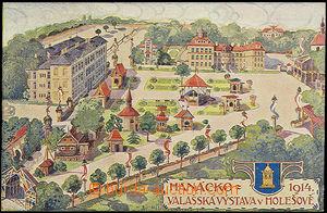 48426 - 1914 Holešov, Hanácko - valašská výstava, kreslená bar