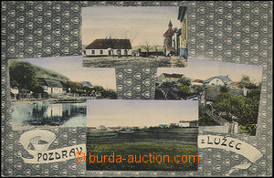 48439 - 1904? Lužce, 4-view, decorated basis, used, well preserved
