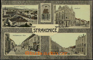 48442 - 1913 Strakonice, 4-view, imitation  of wood, Un, well preser