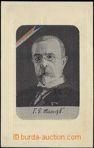 48455 - 1920? lepená pohlednice s francouzským stroj. gobelínem s