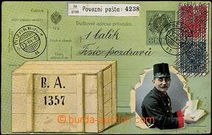 48458 - 1921 pseudoprůvodka na jeden balík s tisícem pozdravů +