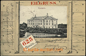 48497 - 1908 Olomouc, koláž, tělocvična v bedně, čb foto, nahn