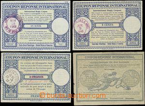 48502 - 1917-68 international odpovědky, comp. 4 pcs of, any other