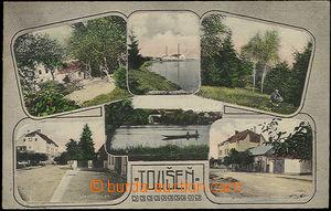 48520 - 1908? Toušeň, kolorovaný 6-okénková, mj. sanatorium, vodárna
