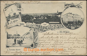 48523 - 1903 Hlinsko, monochrome collage, 4-view, grey shade, long a