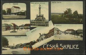 48524 - 1907? Česká Skalice, 7-záběrová na černém podkladě, mj. nádr