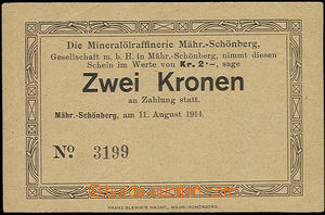 48531 - 1914 Mähr. Schönberg - rafinérie mineral olejů, order in val
