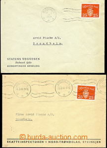 48557 - 1948 comp. 2 pcs of commercial letters, franked with. servic