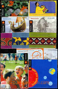 48558 - 2002-05 assembly of 21 pieces of stamp booklets on Norwegian