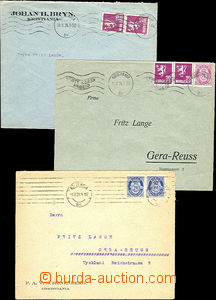 48560 - 1921-24 comp. 3 pcs of commercial letters with Mi.82 2x, MC