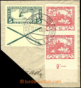 48784 - 1918 cut square letter with mixed franking Hradčany (Pof.5