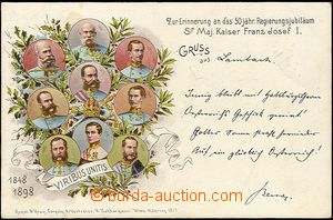 48804 - 1898 Franz Joseph I.  on the occasion of 50 years governance