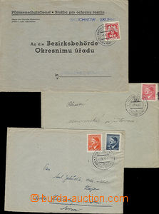 48811 - 1939-45 comp. 8 pcs of entires with railway pmk, contains i.