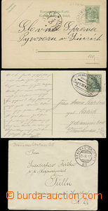 48812 - 1888-1918 comp. 11 pcs of Ppc and CDV with railway pmk, cont