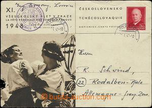 48814 - 1949 cenzura  CDV zaslaná do francouzské zóny v Německu,